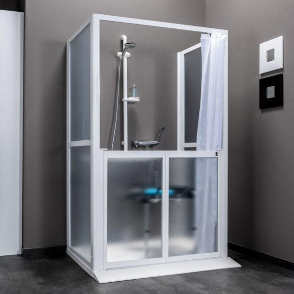 Installation paroi de douche maison design for Paroi douche sur mesure castorama
