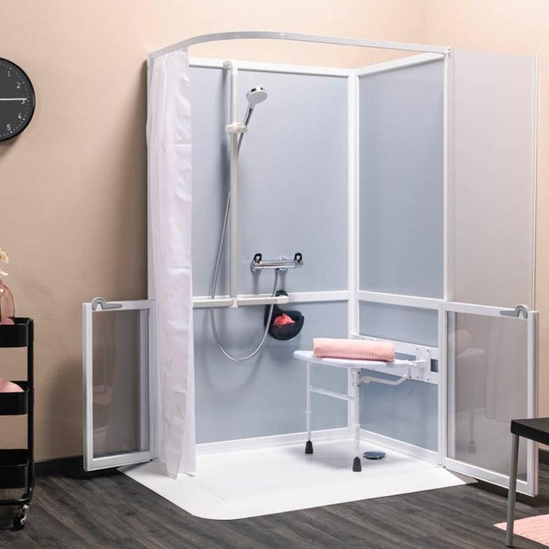 Adaptation de la salle de bain par une cabine de douche for Poser une cabine de douche d angle