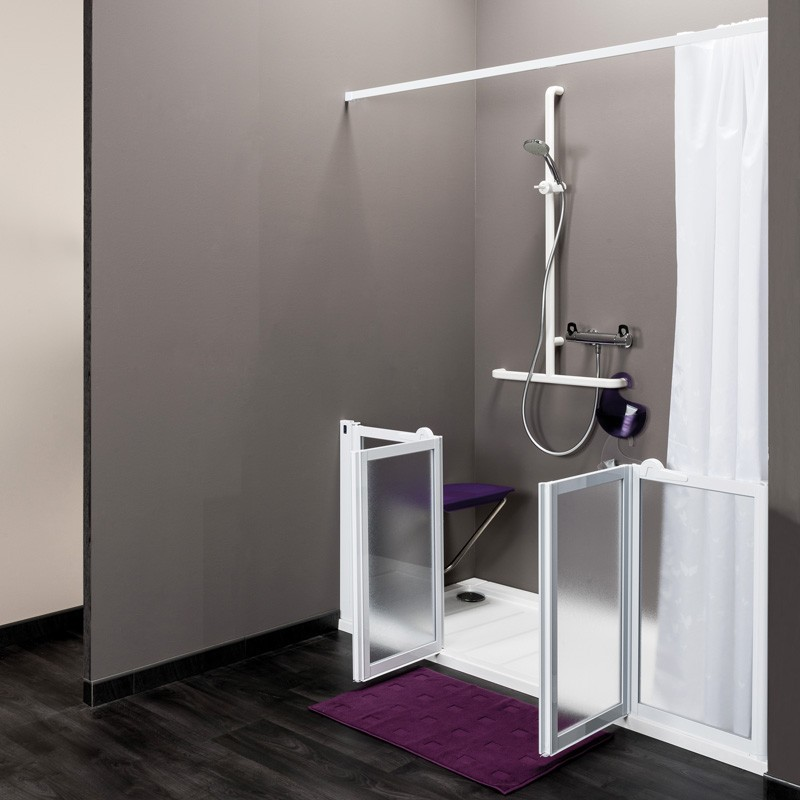 porte de douche sur mesure en niche idhra vichy. Black Bedroom Furniture Sets. Home Design Ideas